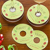 Personalized Holiday Wine Tags - 11088
