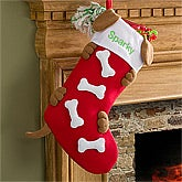 Personalized Christmas Stockings for Dogs - Doggie Bones - 11090