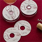 Personalized Cocktail Party Wine Tags - Cheers to You - 11095