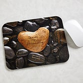 Personalized Mouse Pads - Heart Rock - 11105