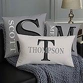 Personalized Throw Pillows - Monogram - 11113