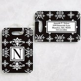 Monogram Luggage Tags - Damask - 11124