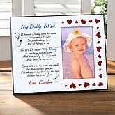 Personalized Medical Doctor Picture Frame - My Daddy, M.D. - 1114
