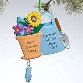 Personalized Christmas Ornaments - Gardening - 11144