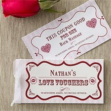 Personalized Romantic Love Coupons - Create Your Own - 11153