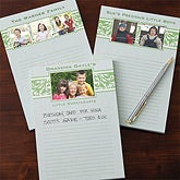 Personalized Photo Notepads - Floral Design - 11156