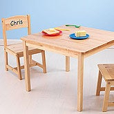 Personalized Kids Wood Table and Chair Set - 11162D