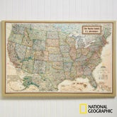Personalized Canvas Maps for Executives from National Geographic - 11171