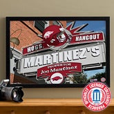 Arkansas Razorbacks Collegiate Football Personalized Pub Sign Canvas - 11173