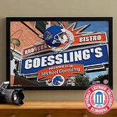 Boise State Broncos Personalized College Football Pub Sign Canvas - 24x36