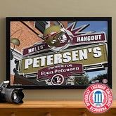 College Football Personalized Pub Sign Canvas - Florida State Seminoles - 16x24