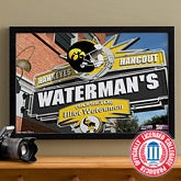 Iowa Hawkeyes Collegiate Football Personalized Pub Sign Canvas - 11177
