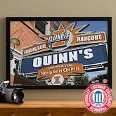University of Illinois Fighting Illini Collegiate Football Personalized Pub Sign Canvas - 11178