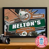 Miami Hurricanes Collegiate Football Personalized Pub Sign Canvas - 11185
