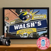 Michigan Wolverines Collegiate Football Personalized Pub Sign Canvas - 11186
