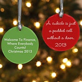 Personalized Professional Quote Holiday Ornaments - 11194