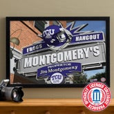 TCU Horned Frogs Collegiate Football Personalized Pub Sign Canvas - 11204