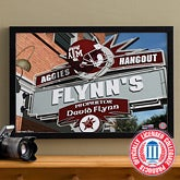 Texas A&M Aggies Collegiate Football Personalized Pub Sign Canvas - 11206