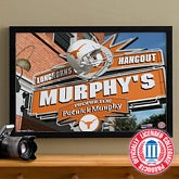 Texas Longhorns Collegiate Football Personalized Pub Sign Canvas - 11211