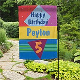 Personalized Garden Flags - Birthday Party - 11213