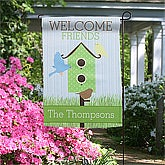 Birdhouse Personalized Garden Flag & Stand