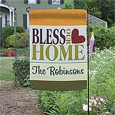 Bless Our Home Personalized Garden Flag & Stand
