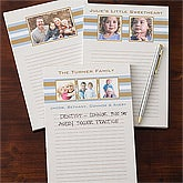 Personalized Photo Notepads - Classy Stripes - 11222
