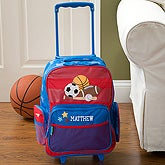Personalized Boys Rolling Luggage - Sports - 11237