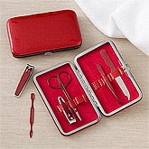6-Piece Manicure Set - Red Glitter - 11250