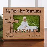 Personalized Cross Picture Frame - Special Day - 11261