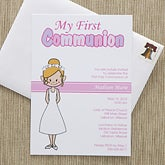 Personalized Communion Invitations - Communion Girl - 11275