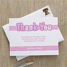 Personalized Communion Thank You Cards for Girls - 11277