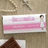 Personalized First Communion Candy Bar Wrapper Favors - Communion Girl - 11279