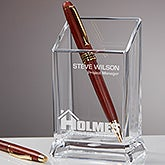 Corporate Logo Personalized Pen & Pencil Holder - 11280