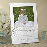 Engraved Silver Picture Frames - First Holy Communion - 11287