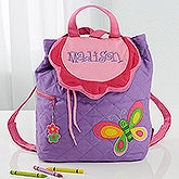Girls Personalized Butterfly Backpack - 11293