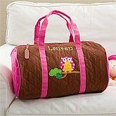 Kids Personalized Duffel Bag - Sweet Owl - 11296