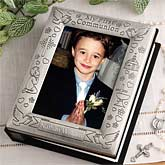 Engraved First Communion Pewter Photo Album - 1131