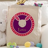 Personalized Easter Bunny Tote Bag - 11310