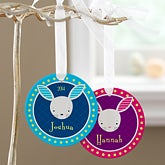 Personalized Easter Ornaments - Trendy Bunny - 11317