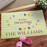Easter Greetings© Personalized Doormat