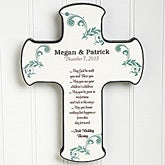 Personalized Wall Cross - Irish Wedding Blessings - 11324