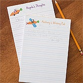 Kids Personalized Notepads - Retro Rabbit - 11334