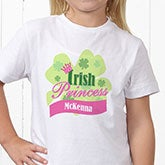 Personalized Irish Girl's T-Shirt - Irish Princess