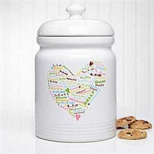 Personalized Cookie Jars - Her Heart Of Love - 11343