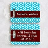 Personalized Luggage Tag Set - Her Design - 11350