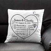 Our Life Together Personalized Keepsake Pillow