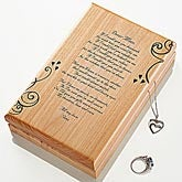 Personalized Wooden Jewelry Box Engraved for Mom