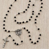 Boy's Personalized Rosary - Black Onyx - 11359
