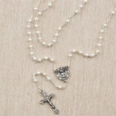 Girl's Pearl Rosary - Prayer of Love - 11360
